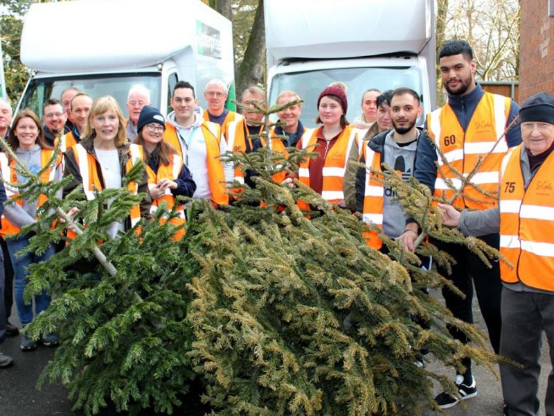 Some of the St Giles Hospice Treecycle volunteers