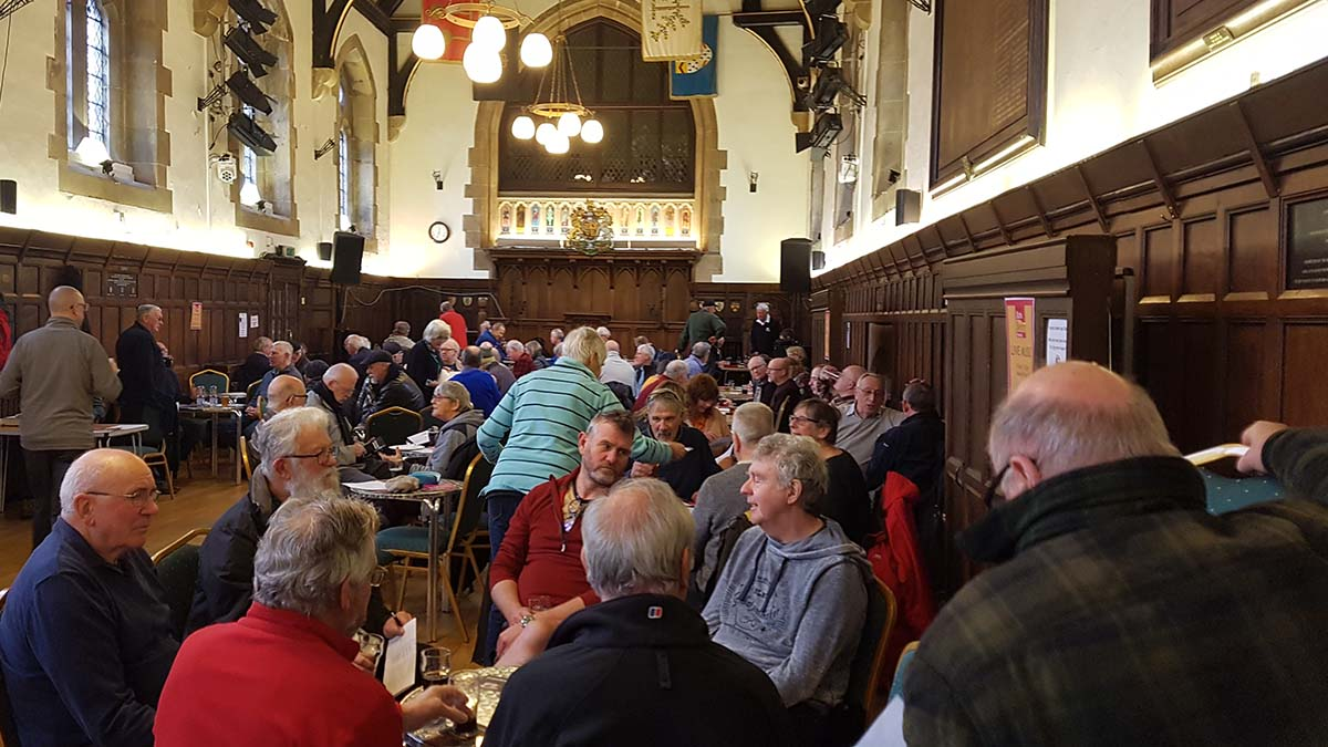 Visitors enjoying the Lichfield Winter Beer Festival