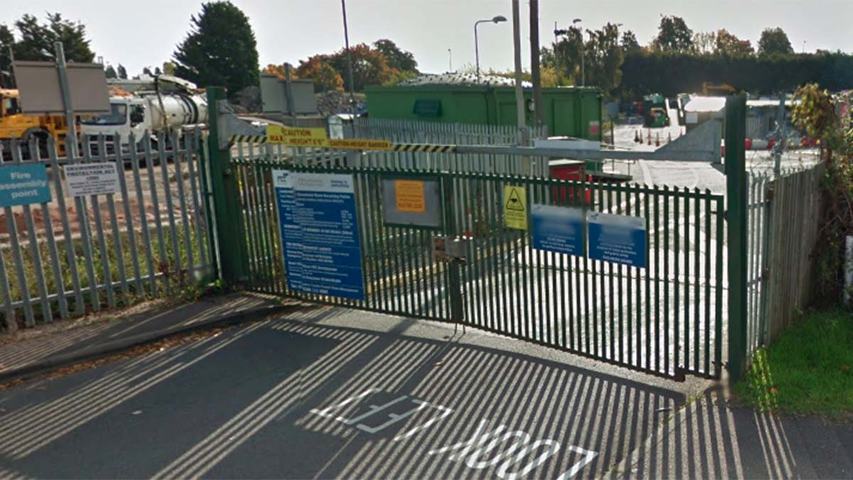 The Lichfield Household Waste and Recycling Centre. Picture: Google Streetview