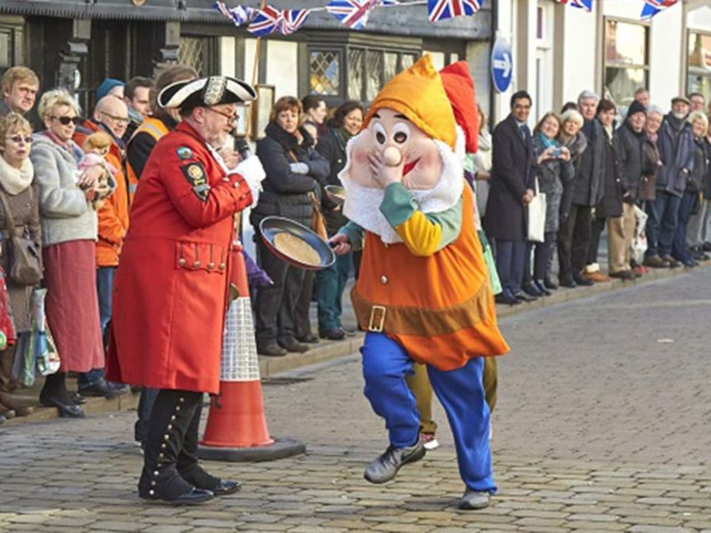 The pancake race in Lichfield. Picture: Lichfield City Council
