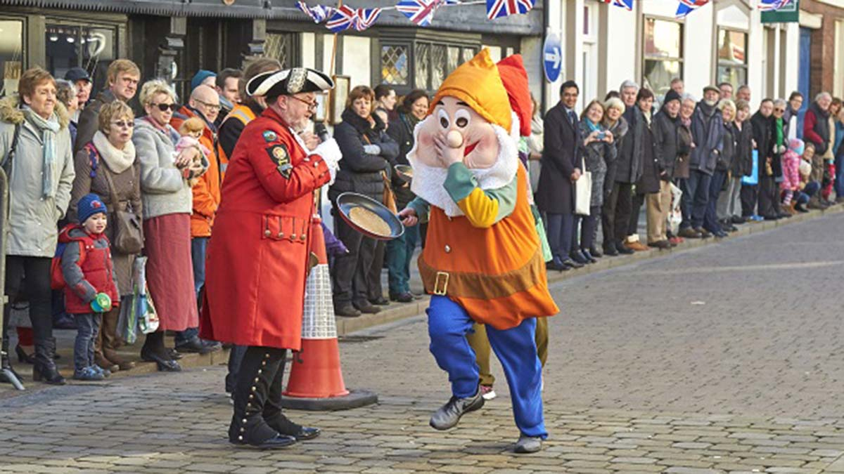 The pancake race in Lichfield. Picture: Lichfield City Council