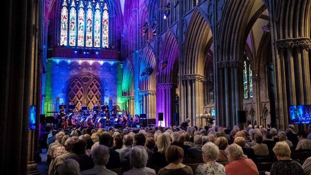 A Lichfield Festival performance in Lichfield Cathedral