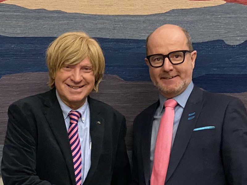 Michael Fabricant with Paul Rodgers from the Inland Waterways Association