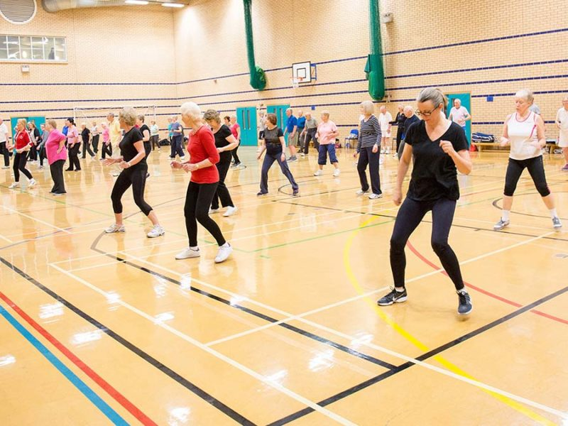 A fitness class at Burntwood Leisure Centre