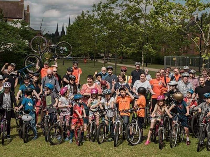 Riders at a Lichfield Re:Cycle event