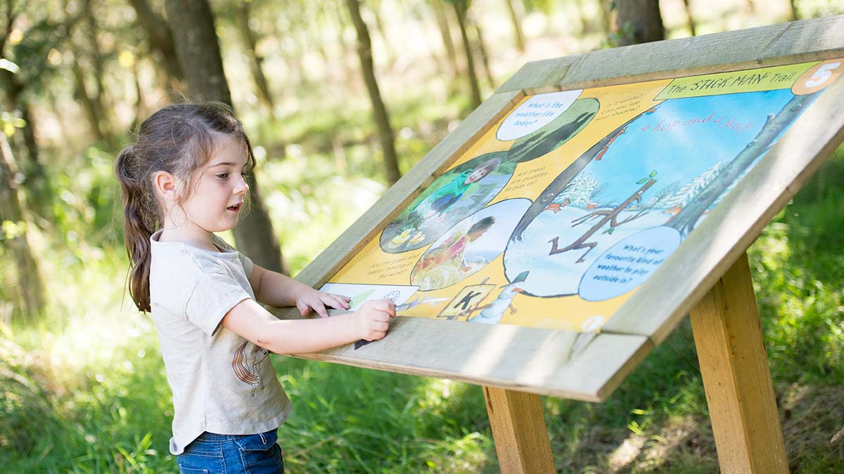 Part of the Stick Man Activity Trail