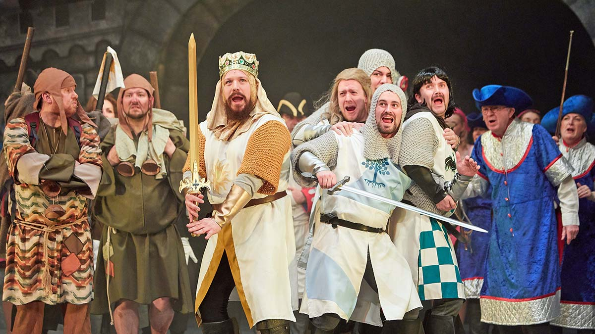 Lichfield Operatic Society performing Spamalot