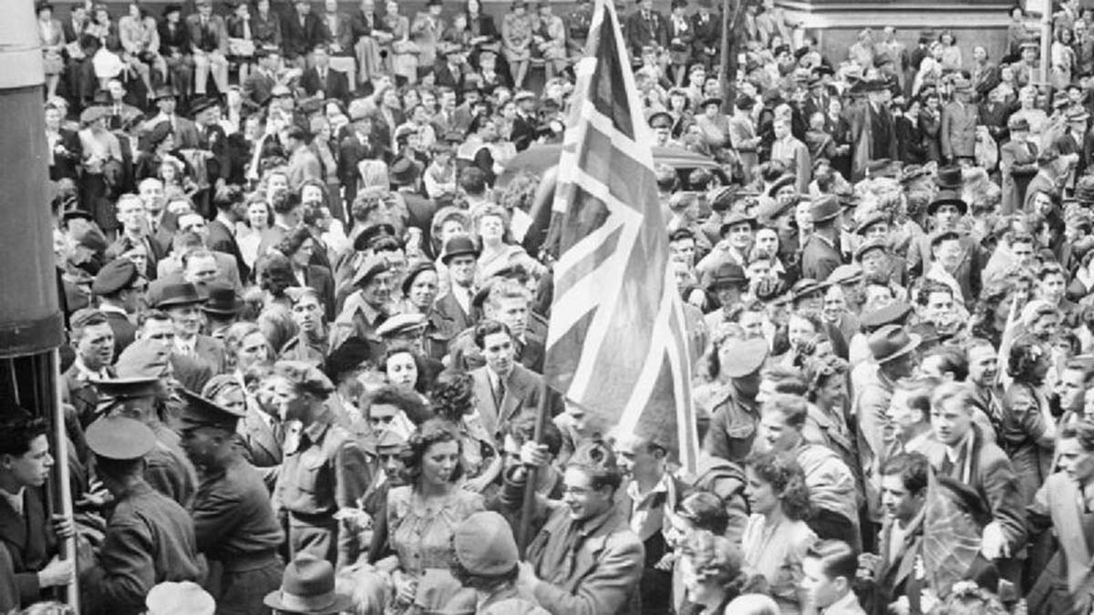 VE Day celebrations at the end of World War Two. Picture: Imperial War Museum