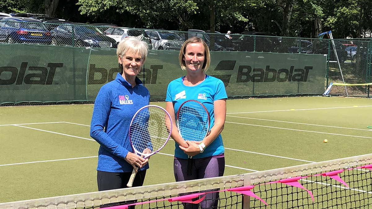 Judy Murray and Zoe Edwards