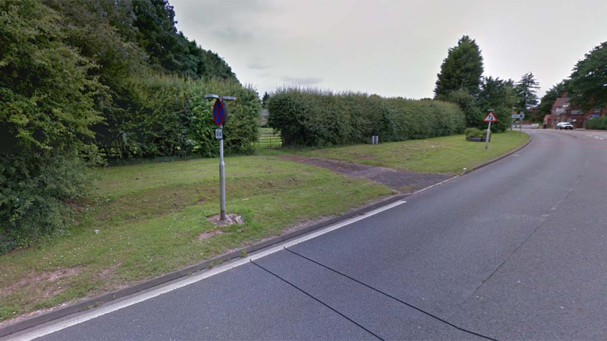 The plot earmarked for new homes in Streethay. Picture: Google Streetview