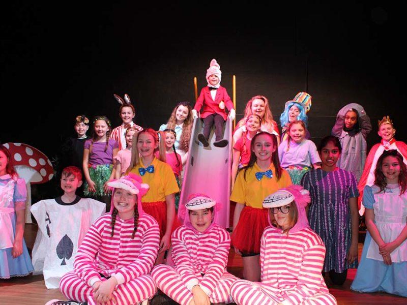 The cast of Alice in Wonderland Jr
