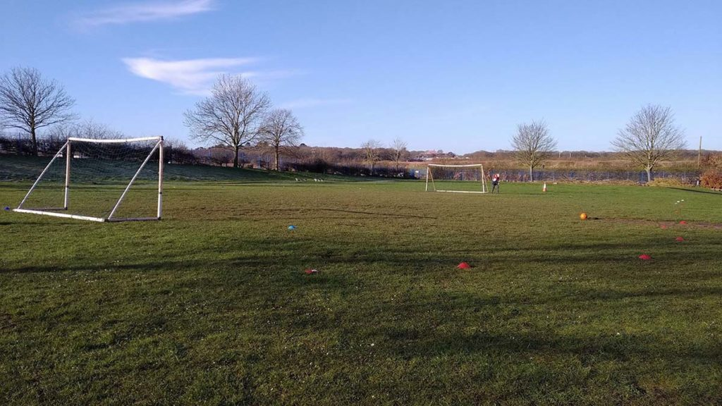 The playing fields at Whittington Primary School. Picture: Crowdfunder