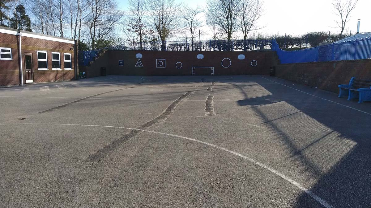 The playground at Whittington Primary School. Picture: Crowdfunder