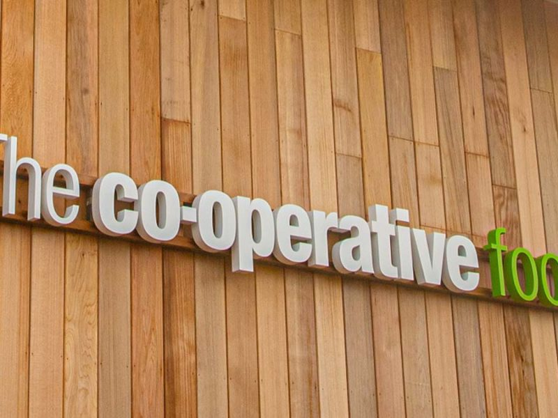Central England Co-op store sign