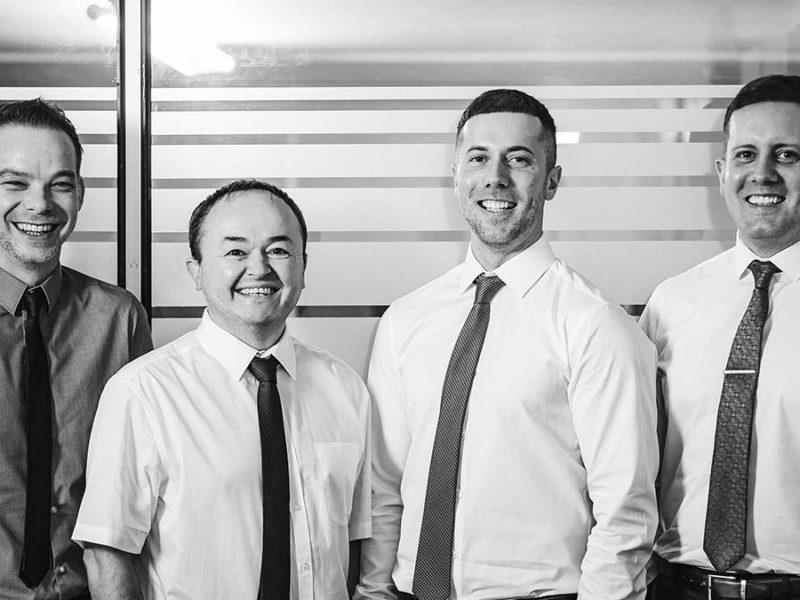 David Unitt, Nigel Higgins, Jonathan Hough and David Hough from SMART Balustrades