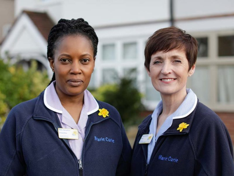 Marie Curie nurses. Picture: Layton Thompson/Marie Curie