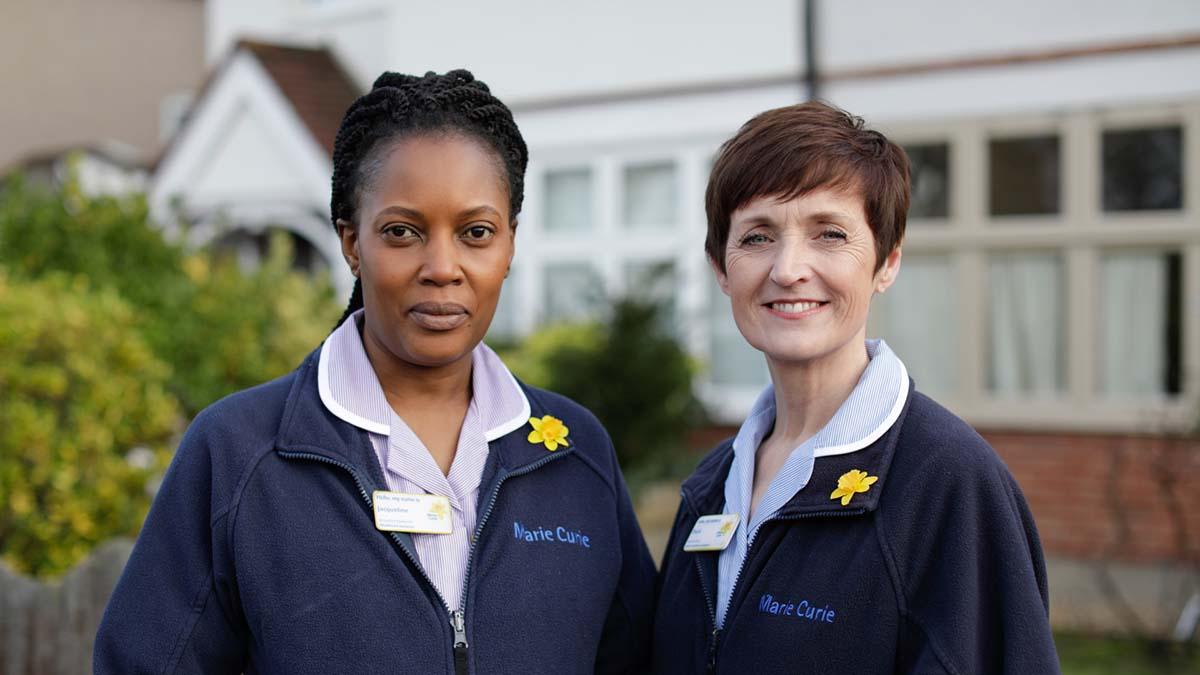 Marie Curie nurses. Picture: Layton Thompson/Marie Curie