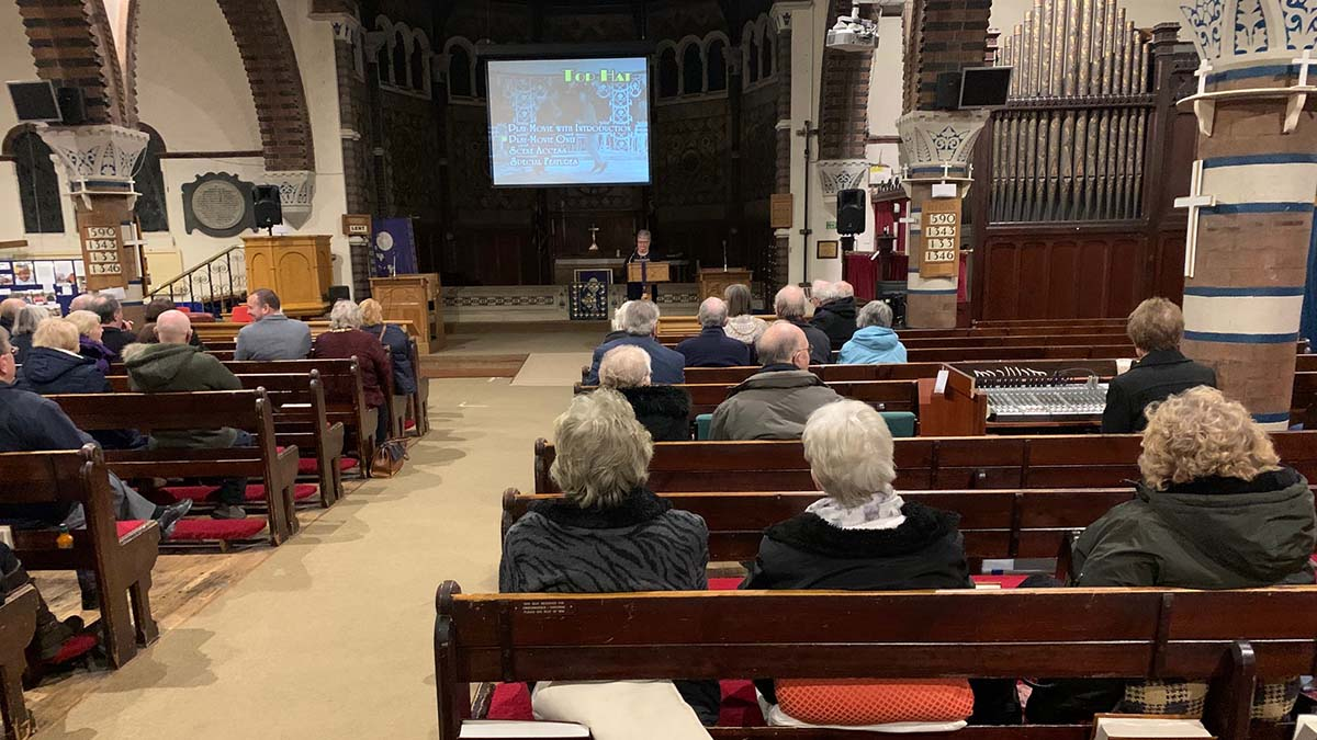 The charity screening at St Anne's Church