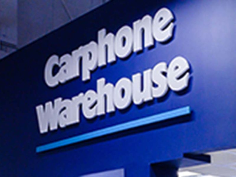 Carphone Warehouse sign