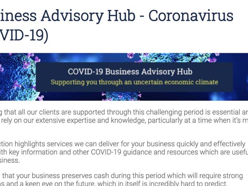 The COVID-19 Business Advisory Hub