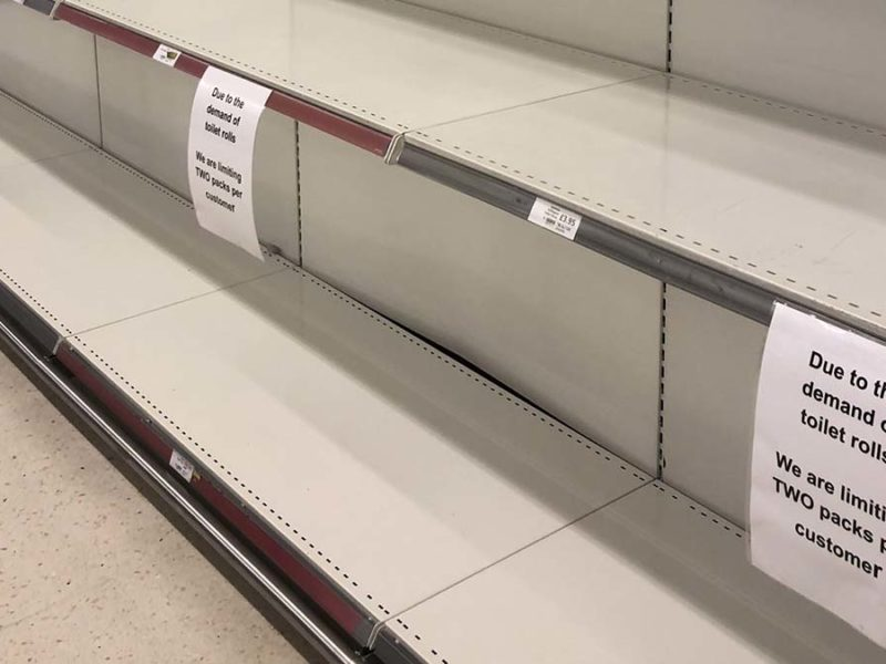 Empty shelves at a supermarket in Lichfield. Picture: FiveSpiresLive