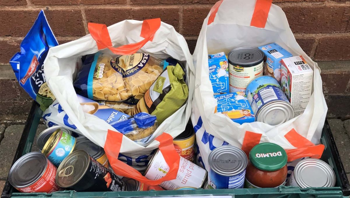 A donation to Lichfield Food Bank