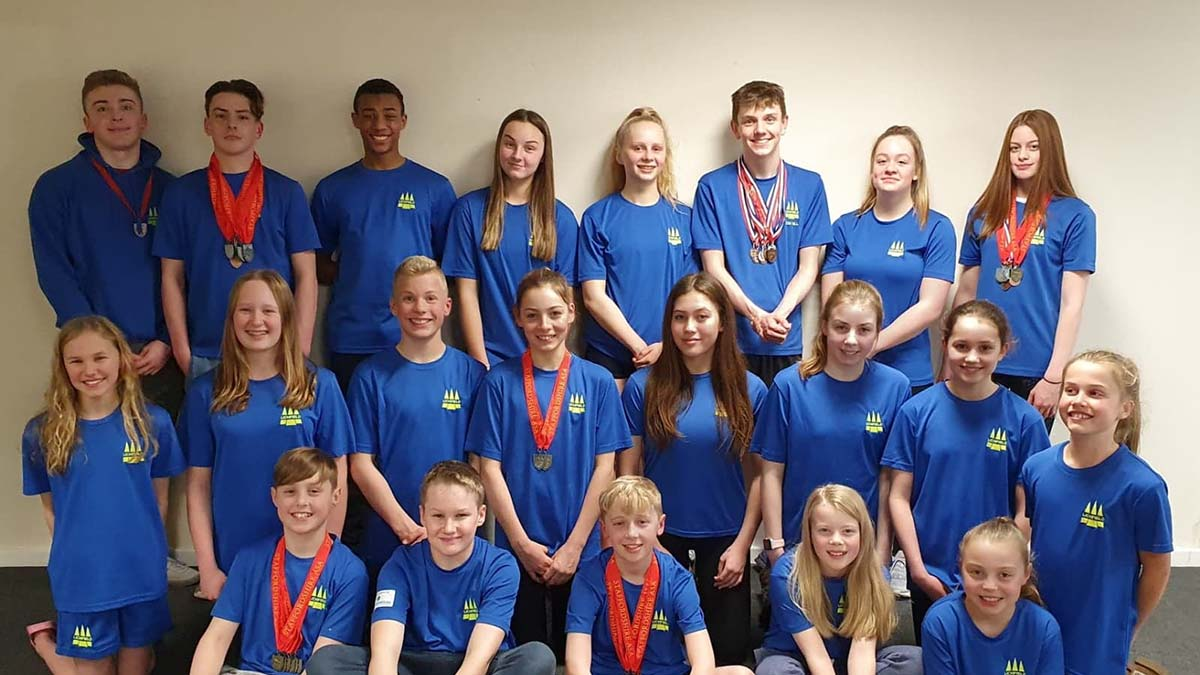 Members of the Lichfield Swimming Club county championships team