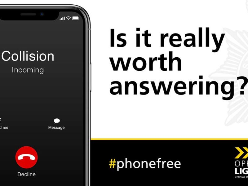 An advert promoting the #PhoneFree campaign