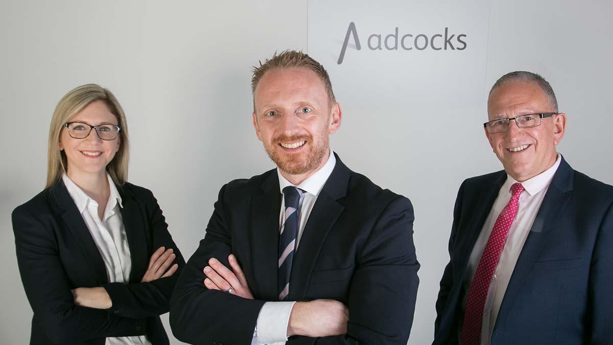 Frances Di Pierri-Adcock, Hedley Adcock and Mark Adcock