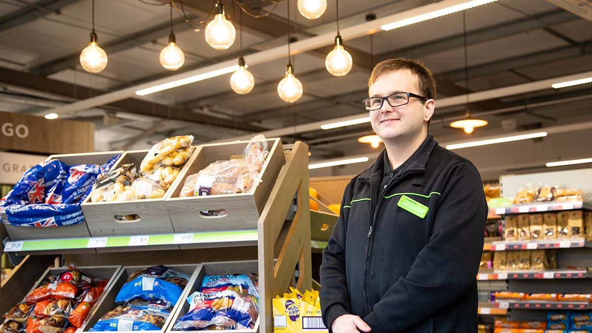 A Central England Co-op worker