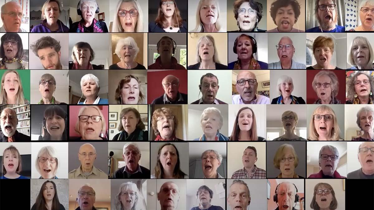 Lichfield Gospel Choir's online performance