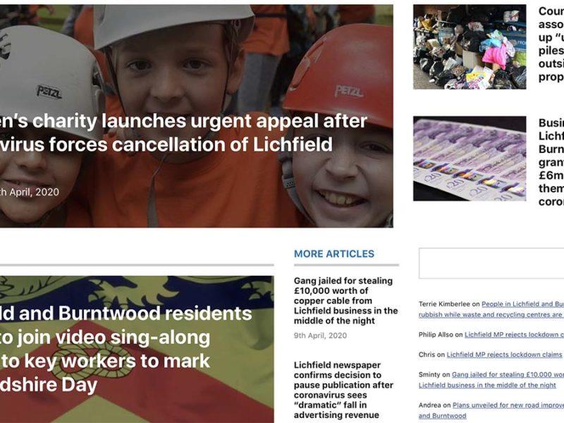 Lichfield Live website