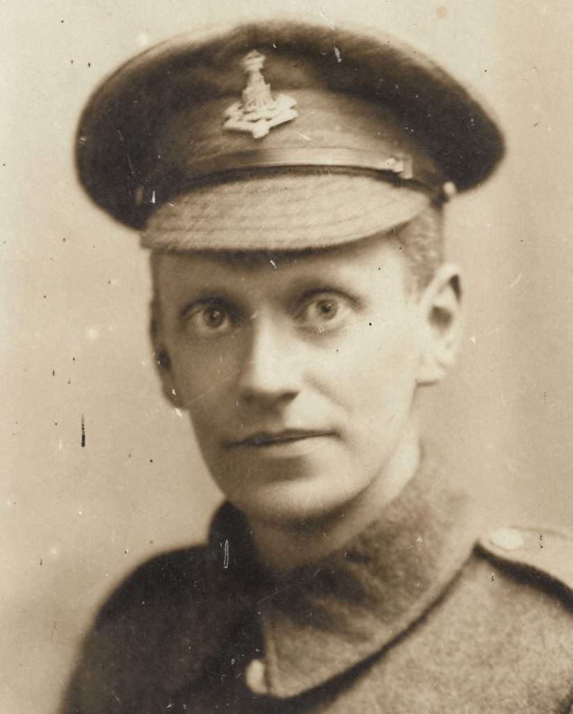 Leonard Hedley Adcock in his World War One uniform