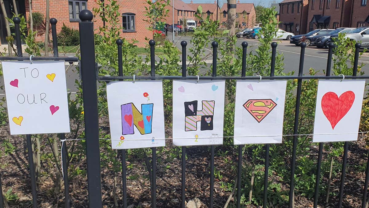 Part of the display created by Saxon Gate residents. Picture: Daniel Floyd
