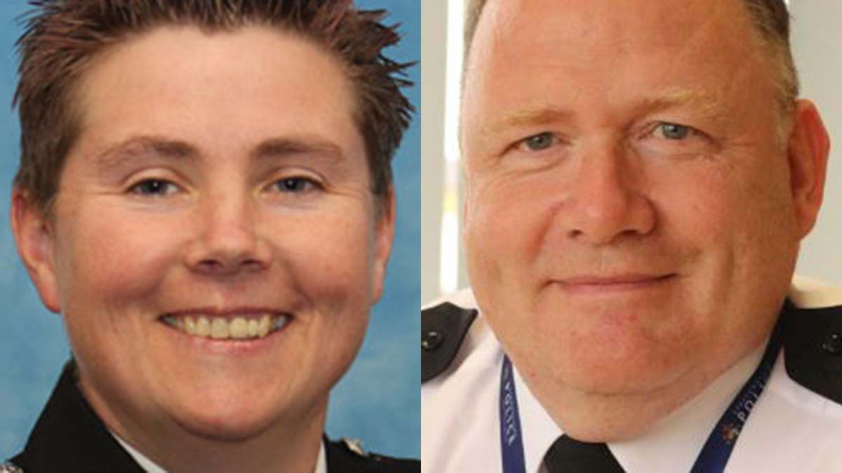 Staffordshire's Chief Fire Officer Becci Bryant and Chief Constable Gareth Morgan