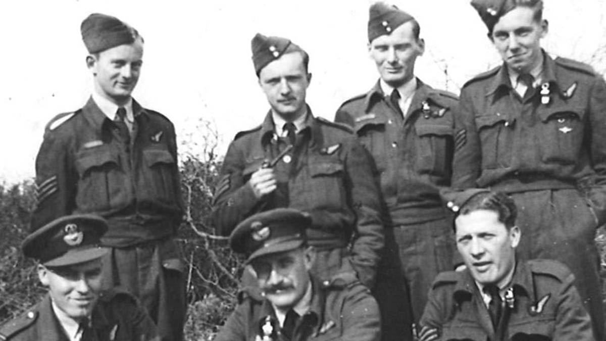 A crew from 138 Squadron which dropped agents on special missions during World War Two