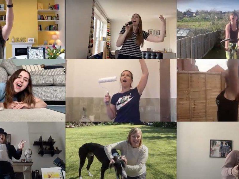 Staff from Erasmus Darwin Academy in their music video