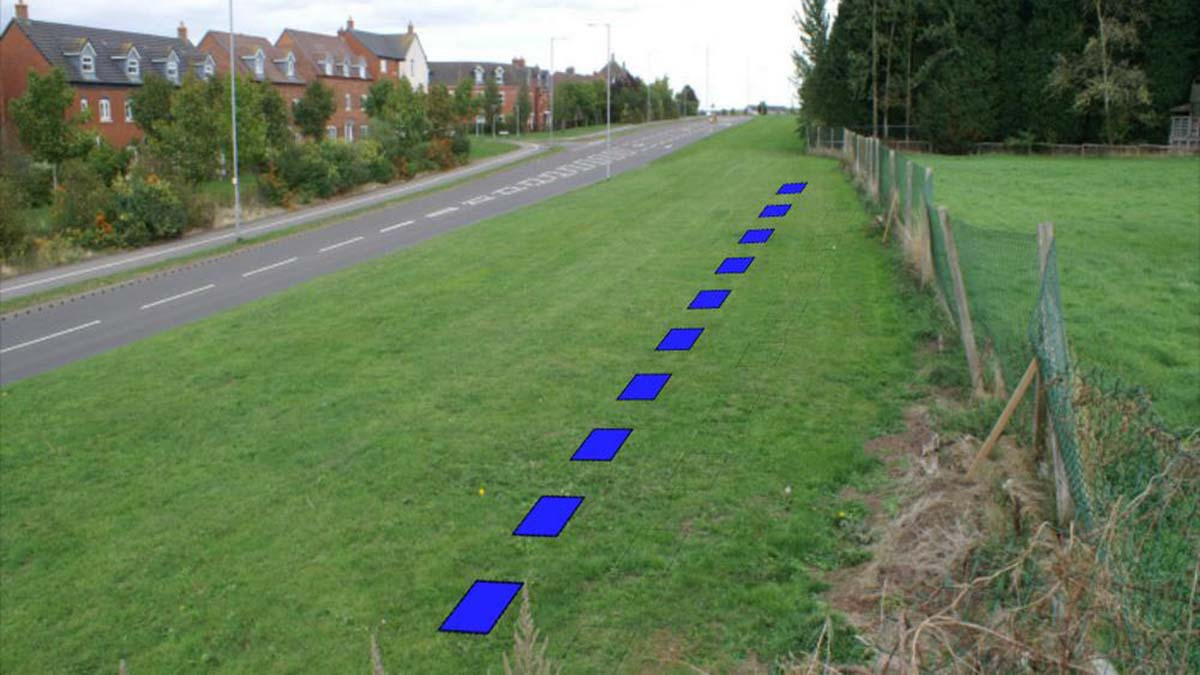 The planned area for the piling to be used alongside Falkland Road