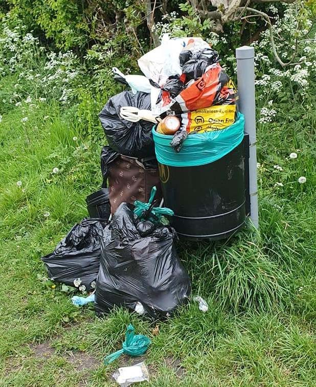 Rubbish dumped earlier this month