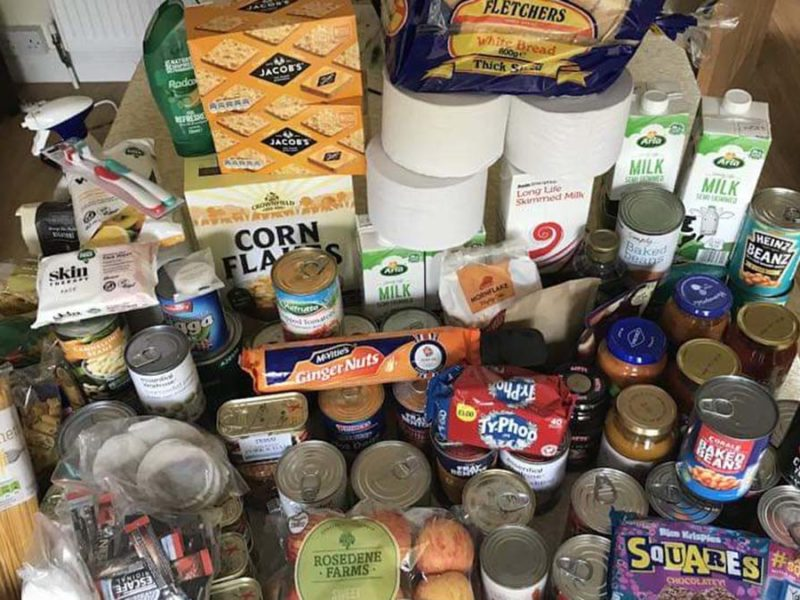 Some of the donations from Burntwood residents to the Cannock and District Food Bank