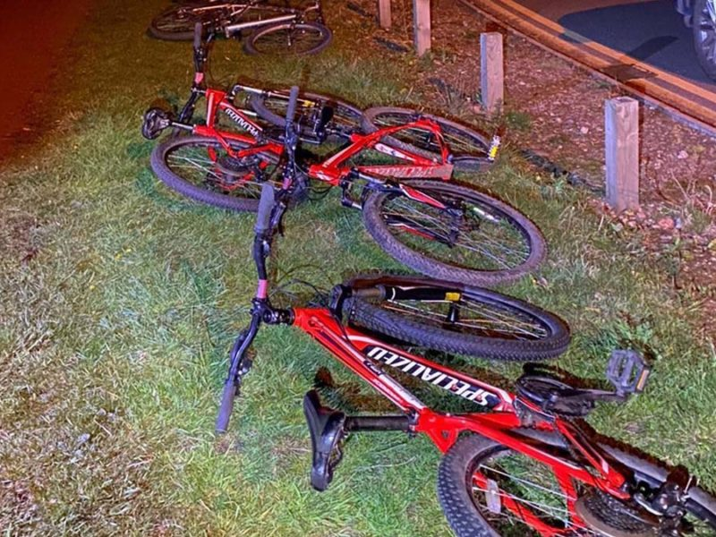 Some of the bikes recovered by police in Burntwood