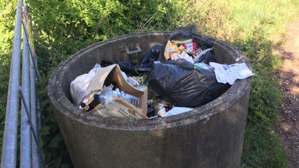 Waste dumped outside the farm in Hammerwich