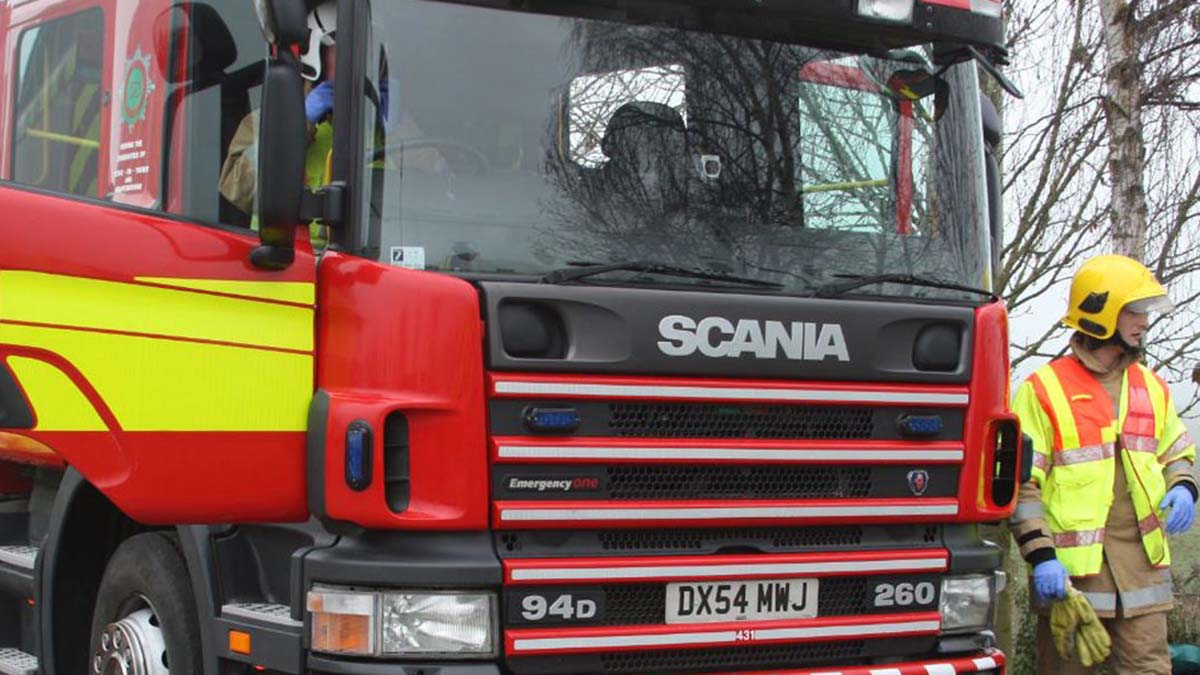 Fire engine. Picture: Staffordshire Fire and Rescue Service