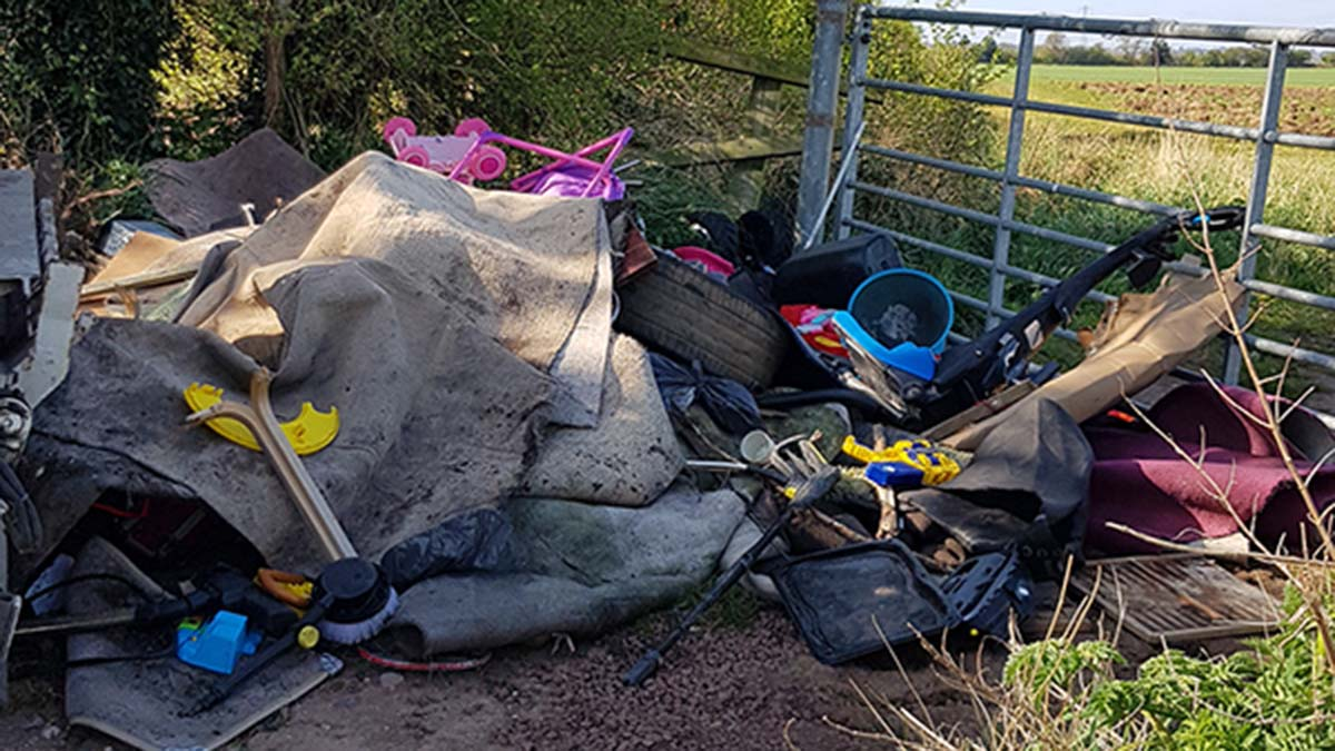 A recent incident of fly-tipping dealt with by Lichfield District Council