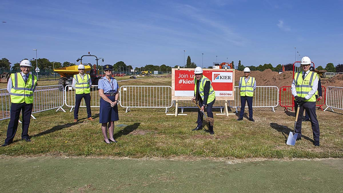 The turf-cutting ceremony at the new Defence Infrastructure Organisation development in Whittington