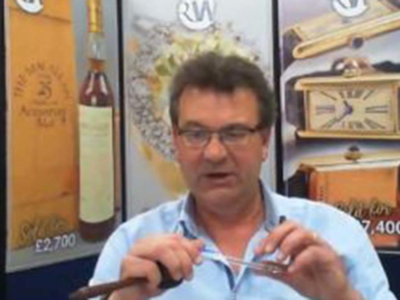 Richard Winterton during one of the online auctions