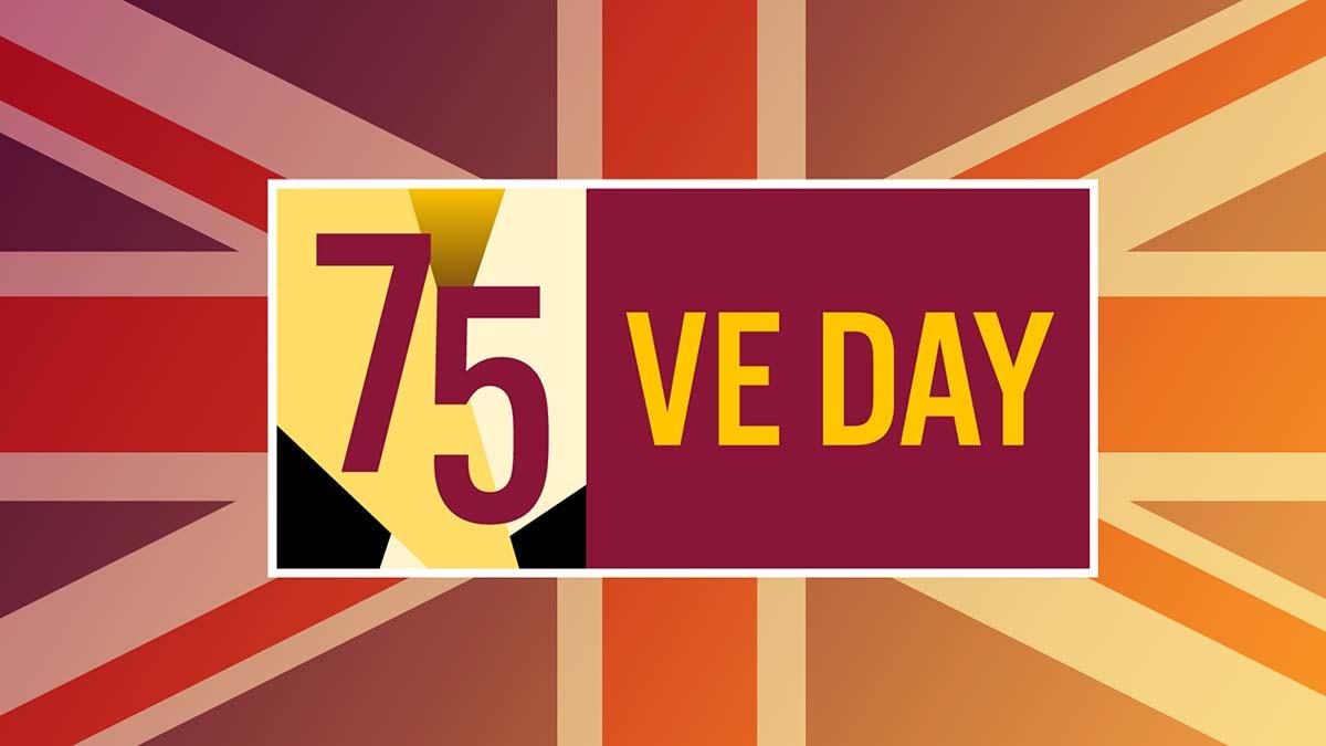 VE Day 75 logo
