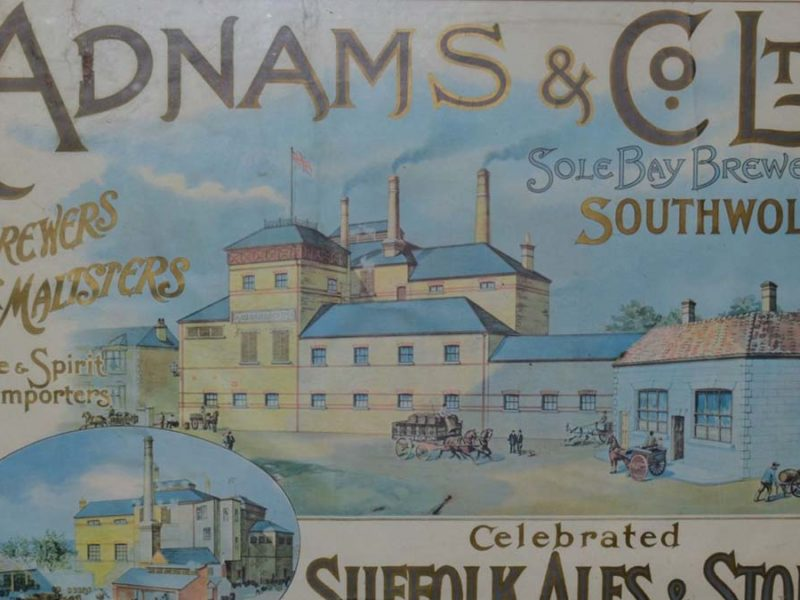 The Adnams Brewery poster sold at auction in Lichfield