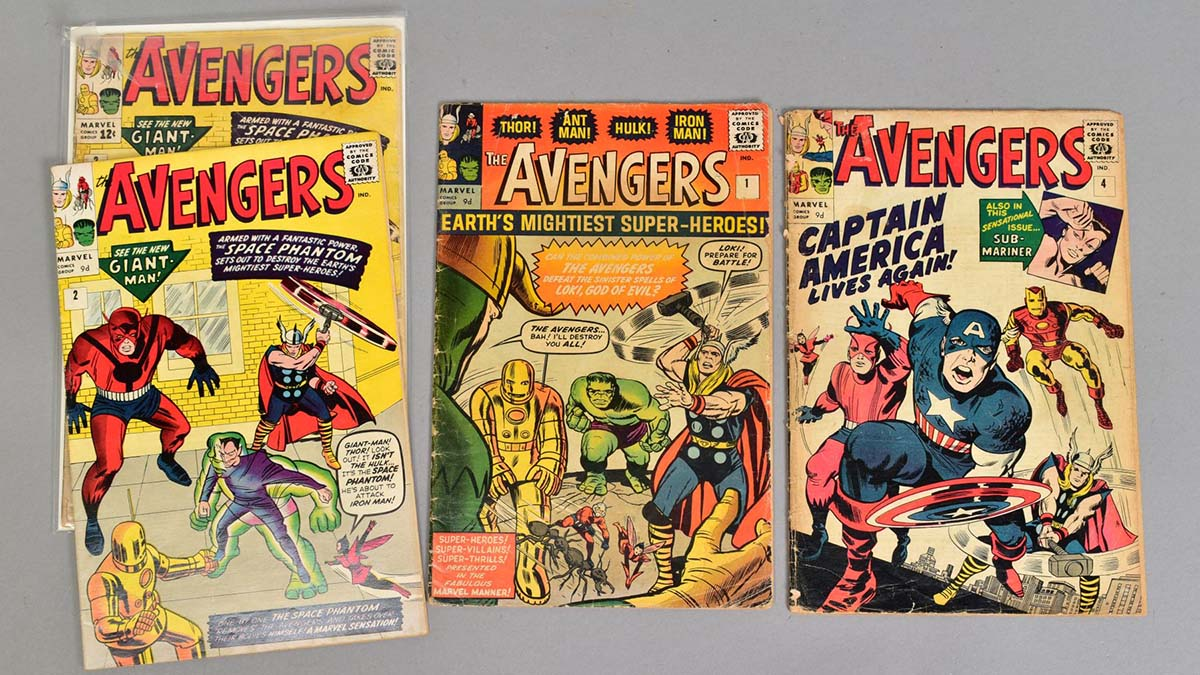 The Avengers comics sold at auction in Lichfield