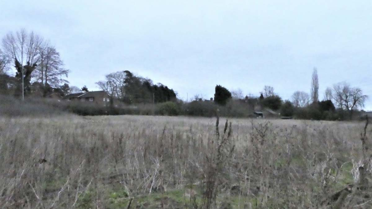 The land off the Tamworth Road being earmarked for a new care home